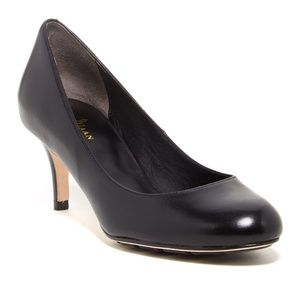 Cole Haan Air Talia Leather Round Toe Mid Pumps